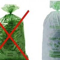 Seuls les sacs verts réglementaires de Bruxelles Propreté sont autorisés